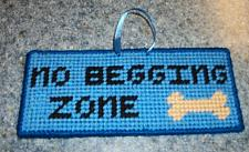 Buy Cute Needlepoint Dog Sign No Begging Zone For Cocker Spaniel Rescue Charity