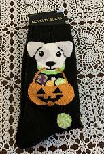 Buy Brand New Ladies Halloween Crew SocksDog Design Sock Size 9 to 11 For Charity