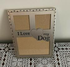 Buy I Love My Dog Metal Photo Frame 5 x 7 Inch Holds 3 Photos 4 Dog Rescue Charity