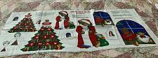 Buy Brand New Jingle Bell Bear Christmas Appliques Fabric Panel 4 Dog Rescue Charity