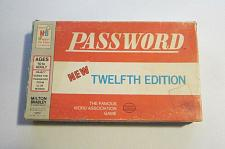Buy Vintage 1970 Password Game Twelfth Edition Milton Bradley