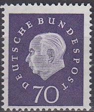 Buy GERMANY BUND [1959] MiNr 0306 ( **/mnh )