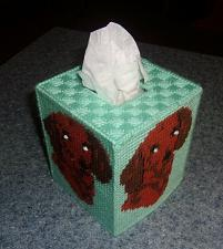 Buy Handmade Needlepoint Dachshund Doxie Tissue Box Cover For Dog Rescue Charity