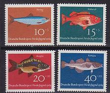 Buy GERMANY BUND [1964] MiNr 0412-15 ( **/mnh ) Fische