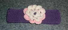Buy Brand New Crocheted Purple Flower Design Dog Collar LARGE For Dog Rescue Charity