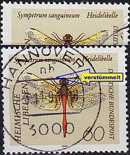 Buy GERMANY BUND [1991] MiNr 1547 F20 ( O/used ) [02] Tiere Plattenfehler