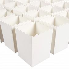 Buy Set of 100 Popcorn Favor Boxes - 16oz Mini Paper Popcorn Containers, Popcorn for