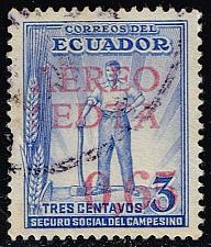 Buy Ecuador #C64 Worker - Surcharged; Used  ECUC064-03XRS