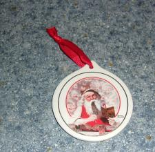 Buy 1998 JC Penney Norman Rockwell Porcelain Christmas Ornament For Rescue Charity