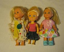 Buy Lot Of 3 Simba Brand Barbie-Kelly-Clone, Toddler Dolls Blonde, Blue Eyes
