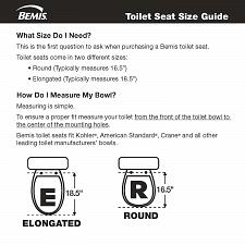 Buy Mayfair 44CP-000 Featuring STA-TITE Seat Fastening System & Chrome Hinges, White