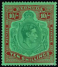 Buy Bermuda #126 var King George VI; Unused (1Stars) |BERSG0119d-01XVK
