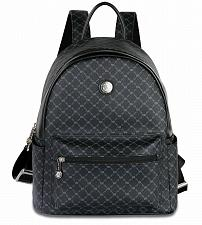 Buy Rioni Signature Black Leather Round Dome Backpack STB - 20286