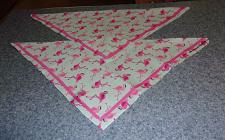 Buy Two Brand New Flamingo Design Dog Bandanas For Cocker Spaniel Charity