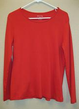 Buy White Stag women's size Large (12-14) t-shirt red color long sleeve scoop neck L