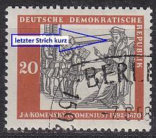 Buy GERMANY DDR [1958] MiNr 0644 F1 ( O/used ) [01] Plattenfehler
