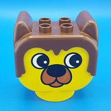Buy Lego Duplo Figure Head Animal 2 x 2 Base Barnaby Bear Yellow Brown Chunky