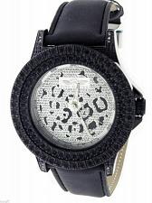 Buy King Master 12 Diamonds Watch with Black Case leather band