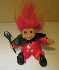 "Buy Hot Stuff Troll Valentine Devil Pitchfork Novelty Gift Russ PVC Pellets 8"""