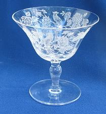 Buy Morgantown glass 811 etched peacock sherbet Made in USA