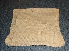 Buy Brand New Hand Knit Buff Cocker Spaniel Cotton Dish Cloth For Dog Rescue Charity
