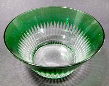 Buy Green cased glass cut to clear finger bowl Dorflinger ?