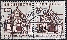 Buy GERMANY BUND [1964] MiNr 0454 2er ( O/used ) Bauwerke