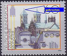 Buy GERMANY BUND [1992] MiNr 1645 F37 ( **/mnh ) Plattenfehler