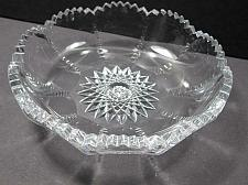 Buy ABP cut glass fluted low bowl