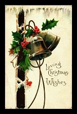 Buy Early 1900's Elegantly Embossed Historic Vintage Antique Topical Post Card Bells