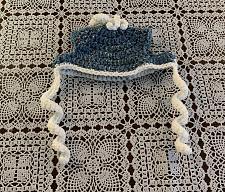 Buy Brand New Crocheted Denim Blue Dog Hat MEDIUM Dogs For Dog Rescue Charity