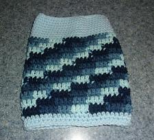 Buy Brand New Hand Crocheted Blue Dog Snood Neck Warmer For Dog Rescue Charity