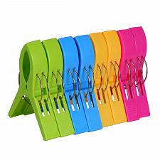 Buy ECROCY 8 Pack Beach Towel Clips in Bright Colors - Jumbo Size Beach Chair Towel