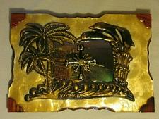 Buy Vintage Hawaii Islands Wood Lacquer Clock Souvenir Wall Hanging Home Decor