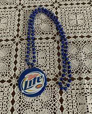 Buy Miller Lite Mardi Gras Beads Medallion Blue 16 inch Strand 4 Dog Rescue Charity