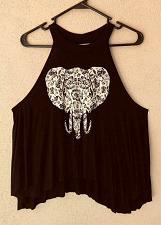 Buy Gaze USA Women's Flowing Elephant Dolman Sleeves Tank Top Shirt XS