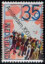 Buy Netherlands #524 People and Map of Dam Square; MNH (4Stars) |NED0524-03XKN