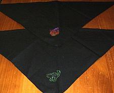 Buy 2 Brand New Halloween Pumpkin Black Cat Design Dog Bandanas 4 Dog Rescue Charity