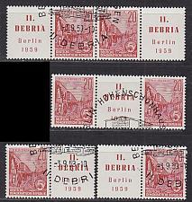 Buy GERMANY DDR [1957] MiNr 0580 ( O/used ) [01] div. Zdr / se-tenants