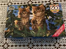 Buy Brand New Sealed Rose Art 500 Piece Jigsaw Puzzle Out On A Limb Kitten Design