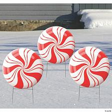 Buy Peppermint Outdoor Yard Signs (3 Pieces Per Set)