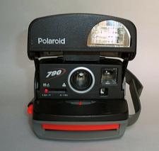 Buy Polaroid 790 Black/Red Instant Film Camera. TESTED, WORKING