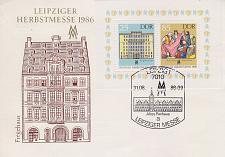 Buy GERMANY DDR [1986] MiNr 3038-39 Block 85 ( FDC ) [01]