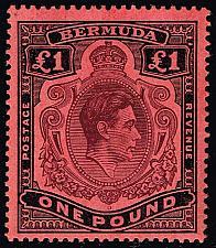 Buy Bermuda #128b King George VI; Unused (4Stars) |BER0128b-01XVK