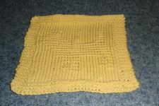 Buy Brand New Hand Knit Cairn Terrier Dog Yellow Dish Cloth For Dog Rescue Charity