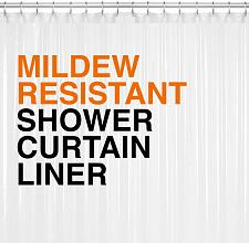Buy Mildew Resistant PEVA Shower Curtain Liner 72x72 Clear 10G Thickness, Mildew and