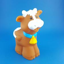 Buy Fisher Price Little People Brown Cow Bell Farm Animal Zoo Replacement Figure