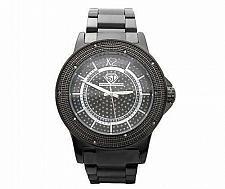 Buy Super Techno .10ct Diamond Black Watch
