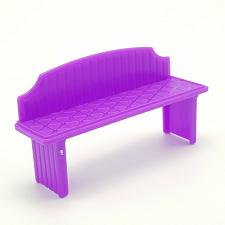 Buy Barbie Purple Small Bench Doll Furniture Accessories Plastic Miniature