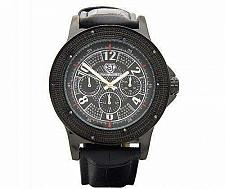 Buy Super Techno 0.10CT diamonds Watch Black 6104